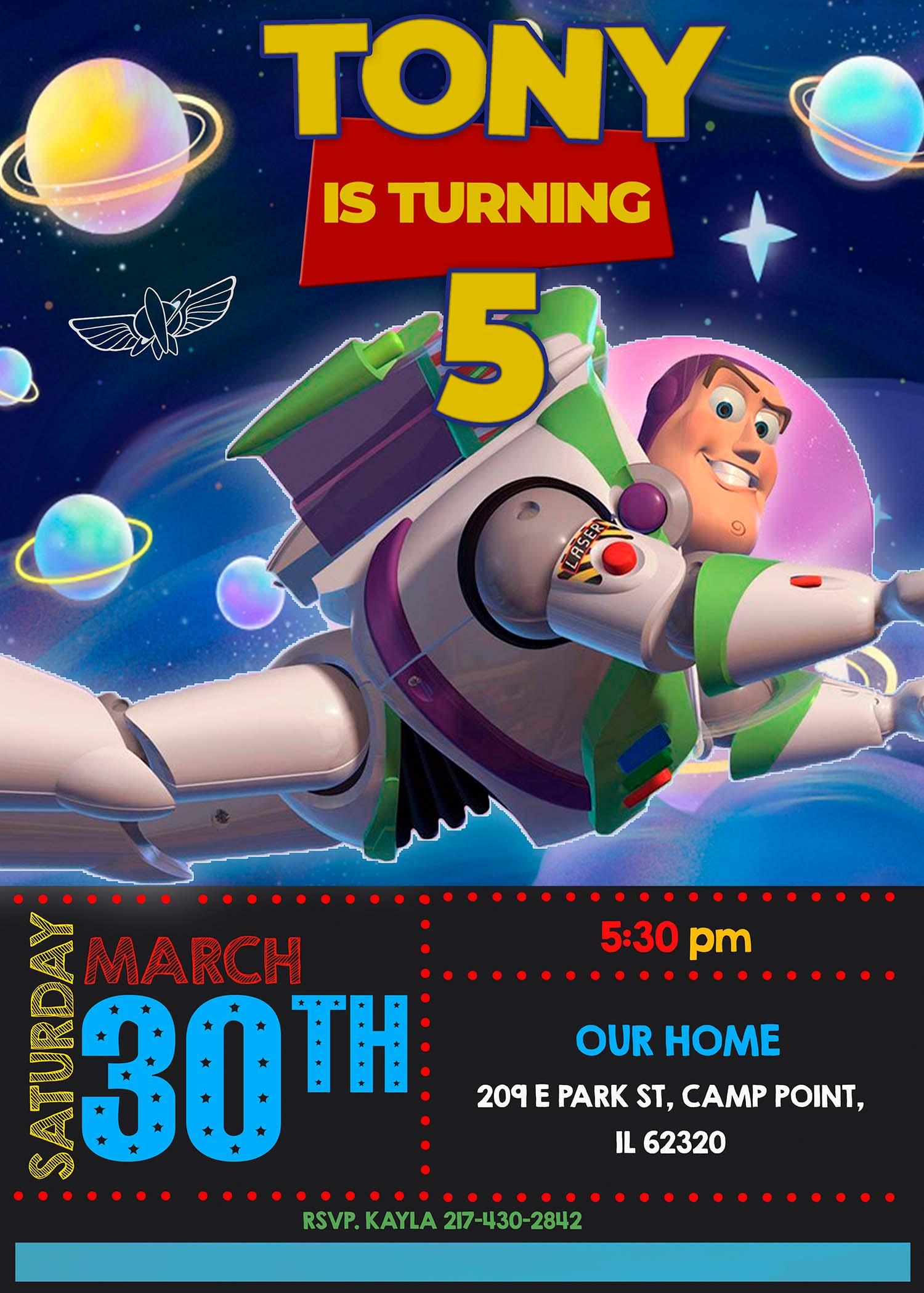 Buzz Lightyear Birthday Party Invitation Terrific Invite