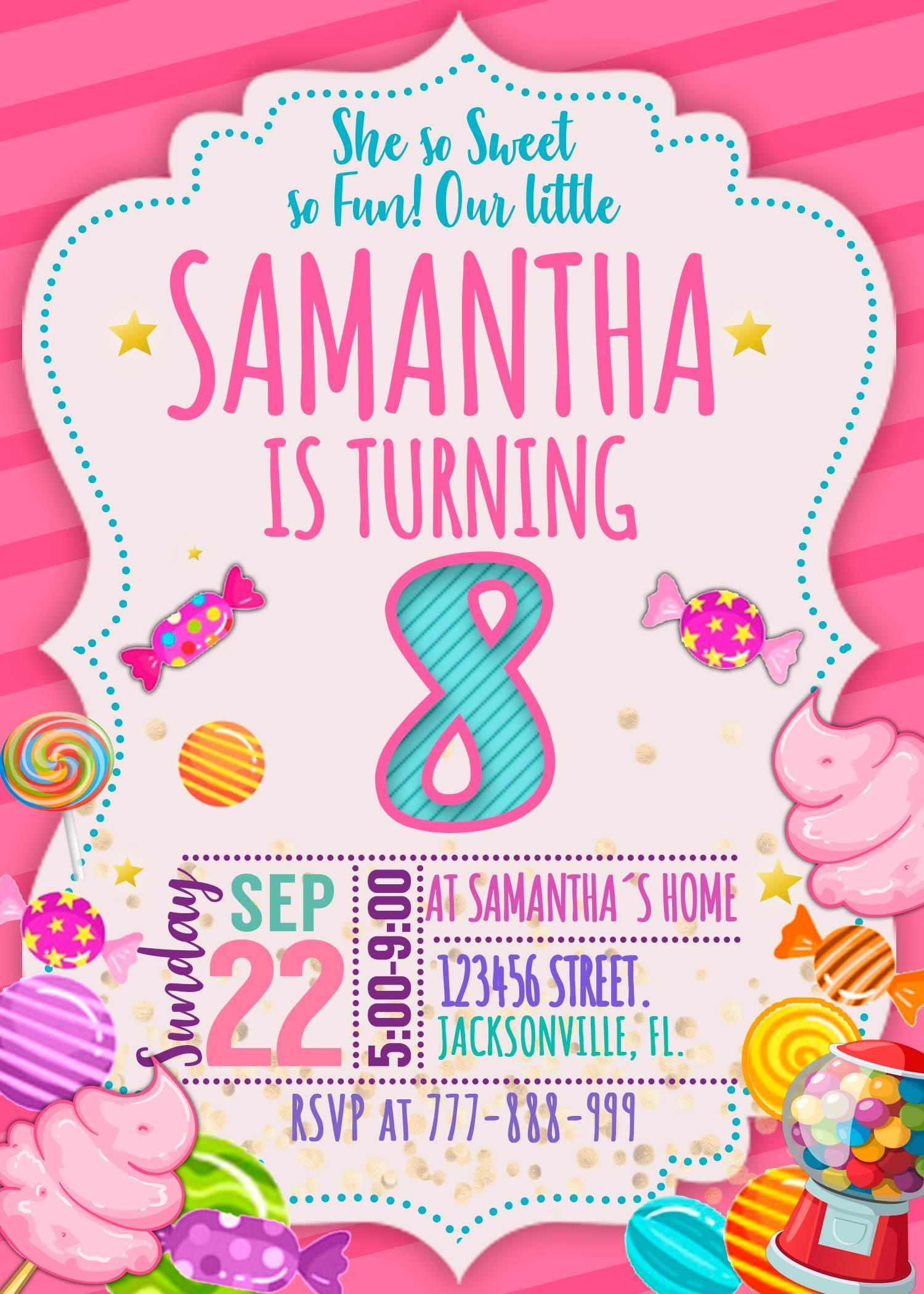 Candyland Birthday Invitation Amazing Designs Us