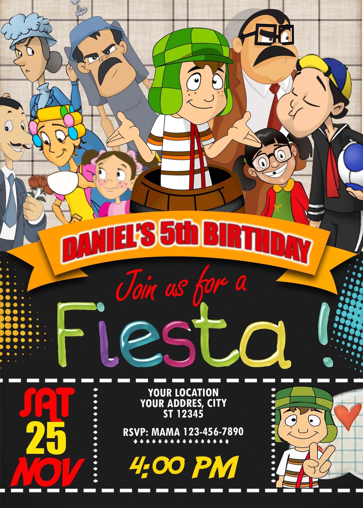 El Chavo Birthday Party Invitation Amazing Designs Us